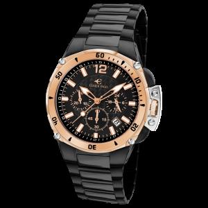 Elmer Ingo Sporty Chronograph Black & Gold (Gents)