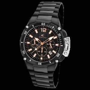 Elmer Ingo Sporty Chronograph Black & Orange (Gents)